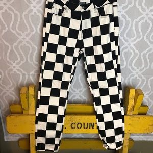 Funky checked pants!!